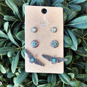 Jewelry - Thunderbird Western Earring Trio Set